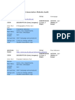 Audit Worksheet