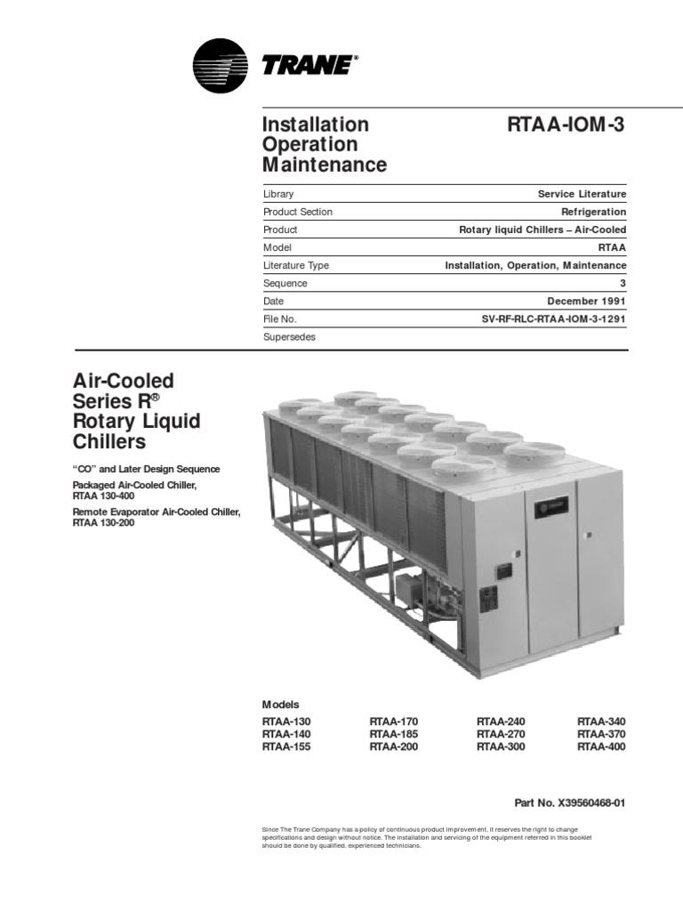[PDF]Trane Rotary Screw Air Cooled Chiller 1 Ton - Genemco