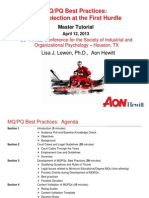 MQPQ Best Practices Master Tutorial (SIOP, April, 2013)