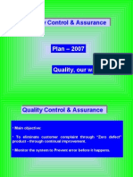 QC Plan for the Year- 2007