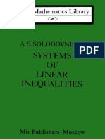 Solodovnikov Systems of Linear Inequalities