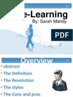 E-learning by Sarah Mahdy