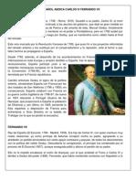 CRISIS ESPAÑOL ABDICA CARLOS IV FERNANDO VII