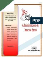 Material SQL-Instrucciones Ddl y Dml