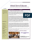 Defend.Serve.Educate May2013 Vol1 Issue1