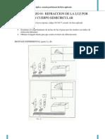 Informe de laboratorio de óptica
