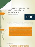 REQUISITOS PARA HACER UNA CAMPAÑA DE PROMOCION