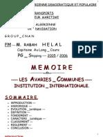 8369777 MEMOIRE Les Avaries Communes