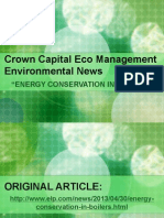 Crown Capital Eco Management Environmental News