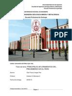 PRINCIPALES AFLORAMIENTOS DEL PRECAMBRICO EN EL PERÚ