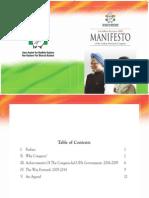 Congress- Elections 2009 Manifesto