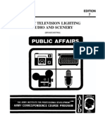 US Army TV Course - Basic Television Lighting, Audio, And Sc