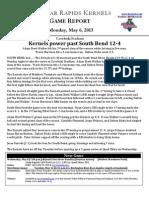 Kernels Game Story (5-6)