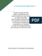 Poema La Calumnia de Rubén Darío