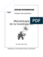 Curso Metodologia Investigacion