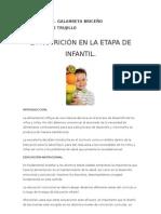 La Nutricion en La Etapa Infantil
