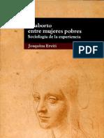 El Aborto Entre Mujeres Pobres Escrito Por Joaquina Erviti