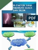 faktor yang mempengaruhi iklim dan cuaca.KT thn5