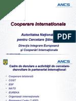 Cooperare Internationala-cercetare Stiintifica