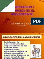Alimentacion y Nutricion en El Adolescente