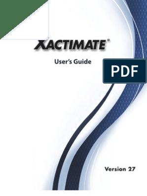 Xactimate 27 User Guide | Installation (Computer Programs