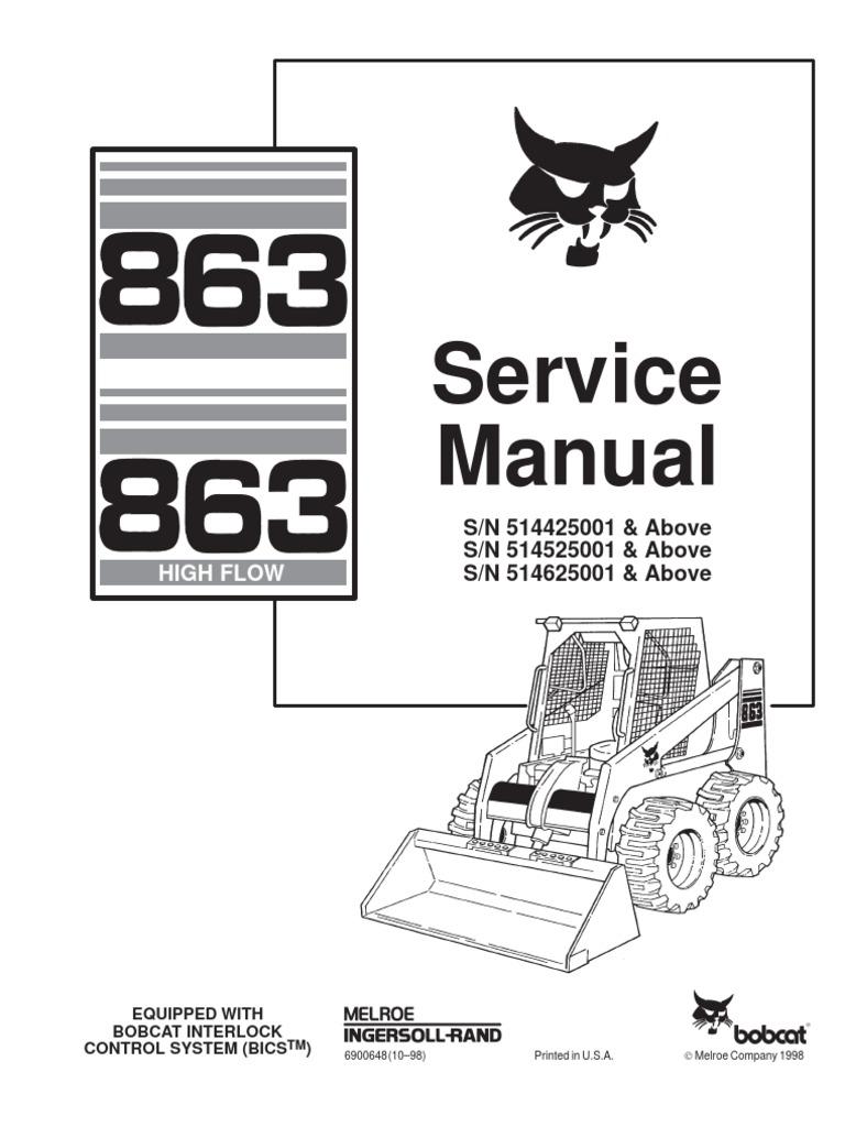 11004010-Bobcat 863 Skid Steer Loader Service Repair