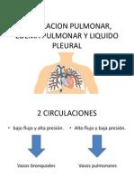 Circulacion Pulmonar, Edema Pulmonar y Liquido Pleural