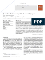 Chemical Modification of Coal Fly Ash for the Removal of Phosphate From Aqueous Solution