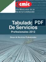 Tabulador de Servicios Profesionales 2012