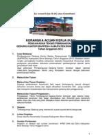 KAK Jasa Pengawasan Pembangunan Gedung BAPPEDA 2013
