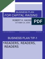 The Business Plan for Capital Raising Robert h. Hacker