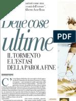 Il Tormento e l'Estasi Della Parola Fine, Di Giorgio Vasta - La Repubblica 07.05.2013