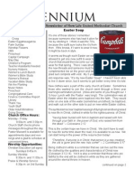 April, 2009 Newsletter