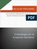Cronoliga de La Erupcion Dentaria