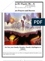 Warfare Prayers and Decrees