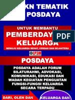 pembentukan posdaya