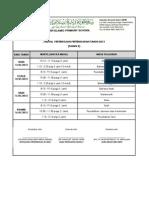 Jadual Peperiksaan Pertengahan Tahun (THN 3)