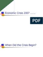 Economic Crisis 2007