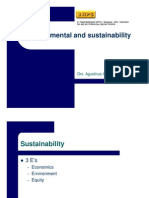 Environmental and Sustainability