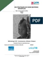 EVALUATION DES PRATIQUES DE SOINS MATERNO INFANTILES--Mao et sud du district de Mao Kanem, Tchad (Décembre 2008)