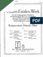 Heinrich Albert Etudes Volume 1