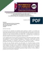 Comunicado Funcionarios Fauna Silvestre Conap Niegan Licencia a Protectora Martes26junio2012.