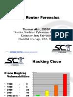 Cisco Routers Foransics