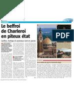 La Nouvelle Gazette - Le beffroi de Charleroi en piteux état - 07.05.13