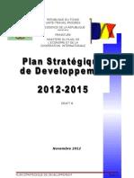 Plan Stratégique de Développement (PSD) 2012 - 2015, République du Tchad (Novembre 2012) - DRAFT 8