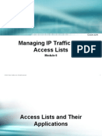 Managing Ip Traffic With Access List