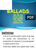Types of Poem - Ballad