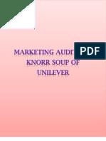 Marketing Audit for Knorr Soup of Unilever