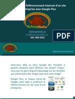 Améliorer le Référencement Internet d'un site d'entreprise avec Google Plus