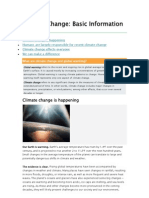 Climate Change Basic Information